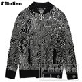 Free shipping men's autumn winter geometric pattern jacquard cardigan sweater slim zipper 100% wool DS043