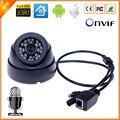 Ultral Низкой Освещенности HI3516C + 1/2. 8 ''SONY IMX222 Full HD крытый Купольная Камера Аудио Микрофон Ip-камера Аудио ONVIF ИК вырезать