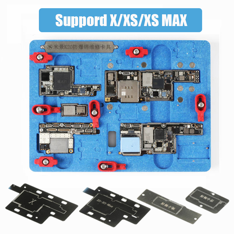 Mobile Phone Motherboard Holder Fixture Clamp PCB Planting Tin A11 Remove Black Glue For iPhone X
