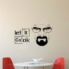 WXDUUZ Let's Cook Breaking Bad Wall Decal Vinyl Sticker Movie Decor Art living room Wall Sticker Home Decor B240