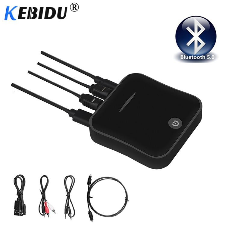 Kebidu Drahtlose Bluetooth 5,0 Sender Empfänger Aptx Hd Adapter 3,5mm/spdif/digital Optical Toslink Für Auto Lautsprecher Tv Audio Professionelles Design Unterhaltungselektronik