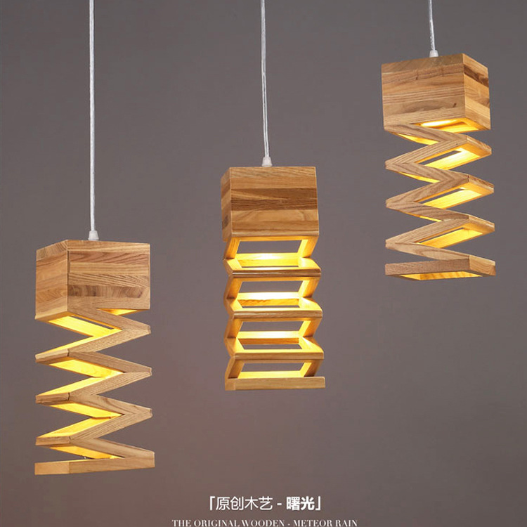Japanese style Delicate Crafts Wooden Frame tatami led pendant ...