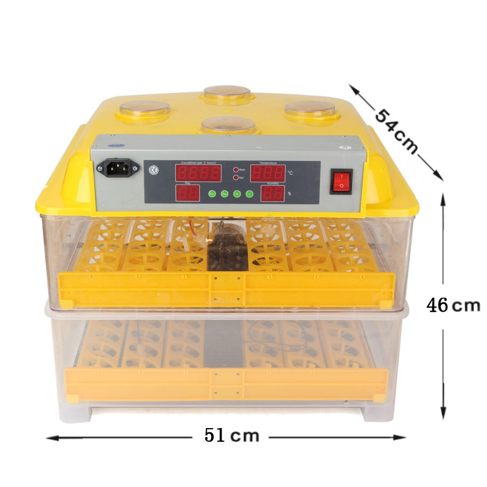 LED Digital Temperature Control 96 Eggs Incubator Brooder Hatching For Chicken Duck Quail Automatic Egg Turning home use mini incubator brooder duck eggs incubators automatic chicken egg incubator hatching machine