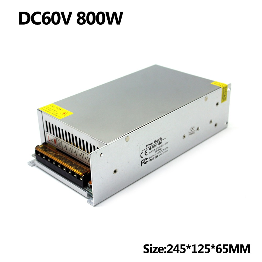 DC Power Supply 60V 13 3A 800w Led Driver Transformer 220V 110V AC to DC60V switch