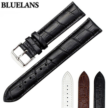 Women's Men's Unisex Faux Leather Watch Strap Buckle Band Black Brown White