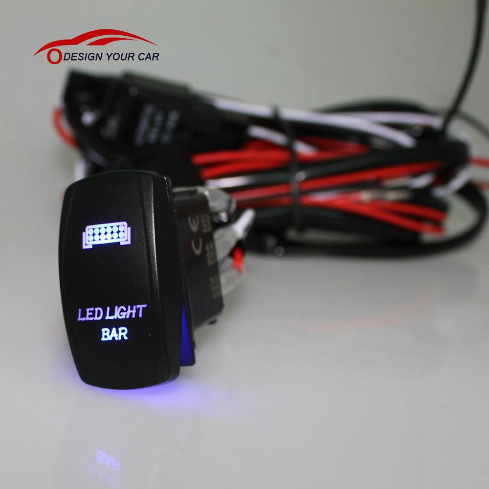 Hd Trailer Wiring Harness Relay Library Boat Kit Led Light Bar Laser Rocker On Off Switch With For Car Motorcycle