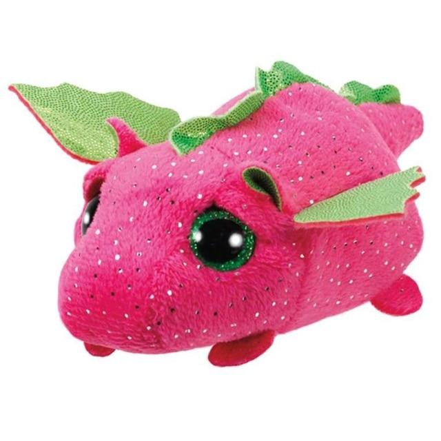 """Ty Pyoopeo Teeny Tys 4 """"10 centímetros Empilhável Darby Rosa Dragão Plush Stuffed Animal Collectible Macia Grandes Olhos Boneca brinquedo com Tag Coração"""