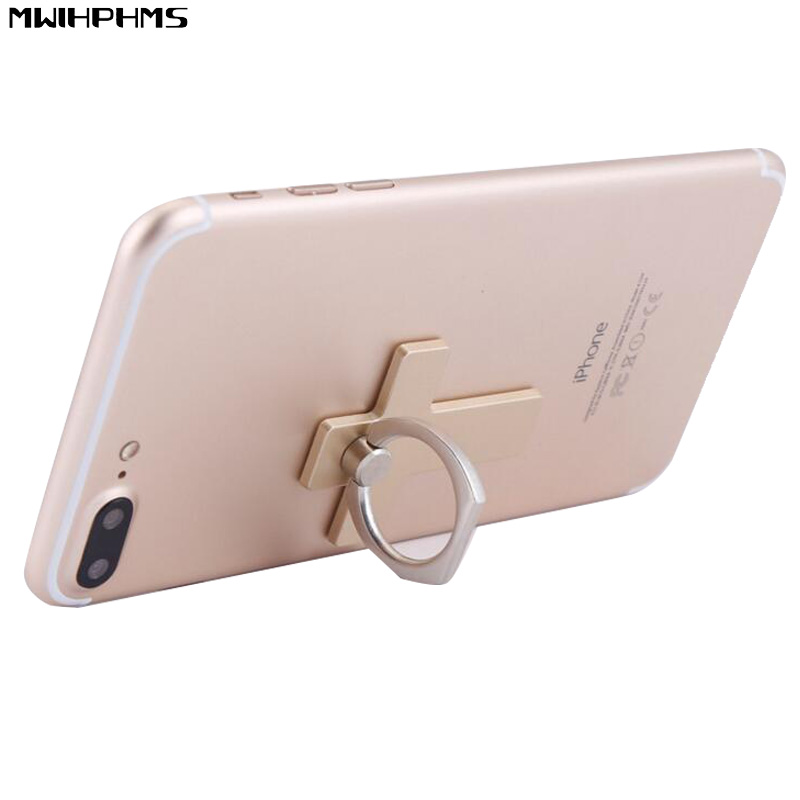 MWIHPHMS Cross shaped 360 Degree Metal+abs Finger Ring Smartphone Stand Holder mobile phone holder stand universal For phone
