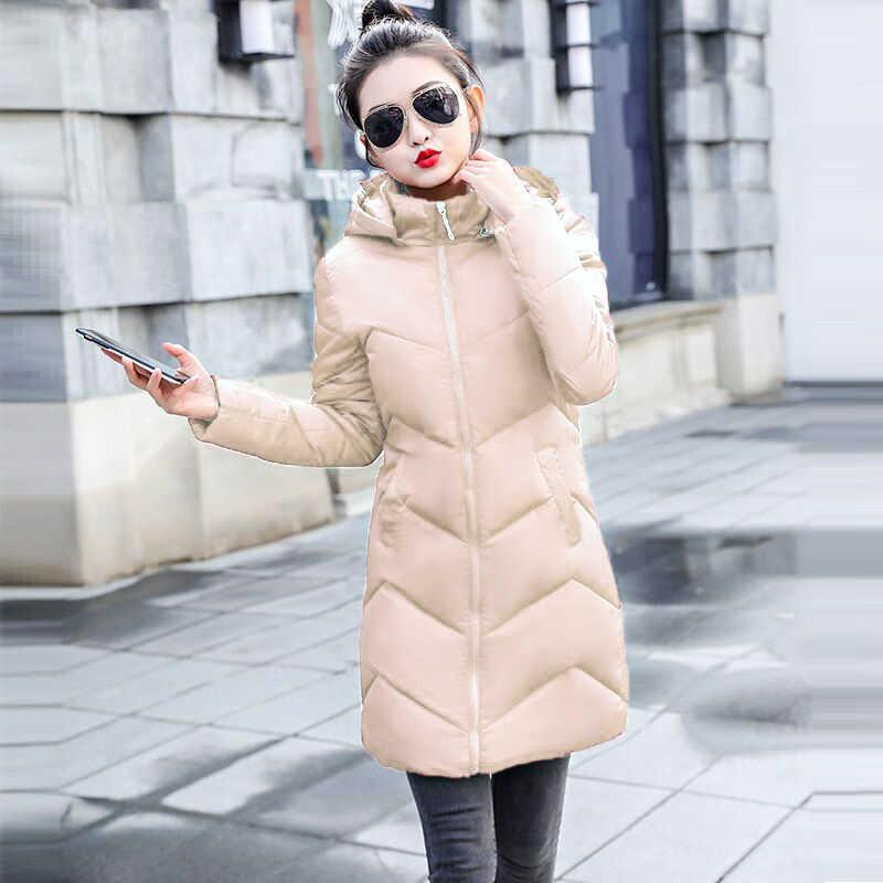Herfst Winter Warme Vrouwelijke Jas Nieuwe 2019 Koreaanse Vrouwen Mode Witte Parka Thicken Winter Jas Vrouwen Hooded Winterjas Vrouwen