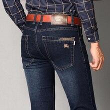 ГОРЯЧИЕ продажи мужские темно-синие джинсы 2016 модные мужские джинсы мужчин большие одежда продажа осенью новый модный бренд мужские брюки