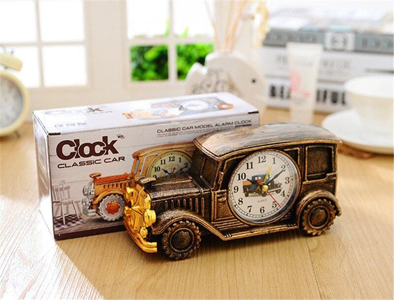 Couleurs cube horloge forme de voiture enfants jouet batterie