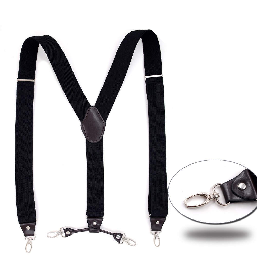4 Clips Fashion Men's Suspenders , Wedding Groomsmen Suspenders Mens Braces Wedding Outfit