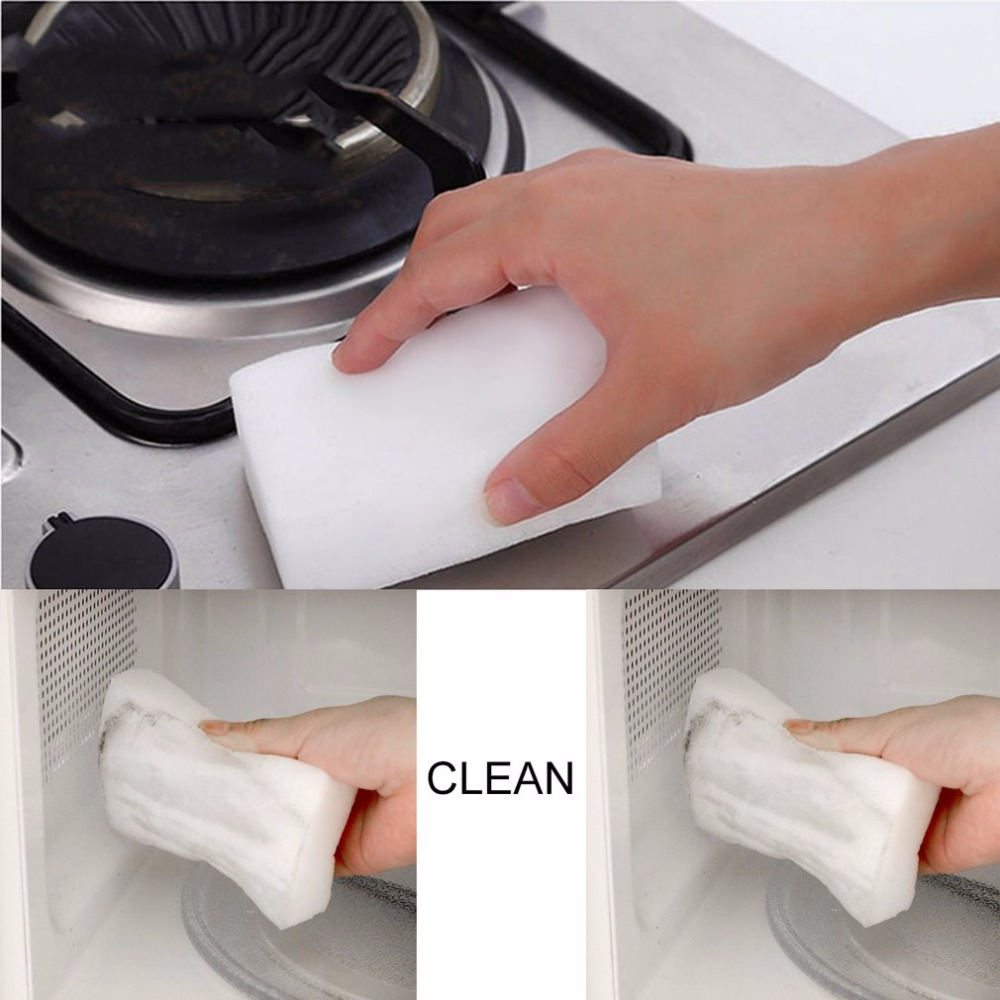 20Pcs Magic Sponge Eraser Multifunction Cleaner Kitchen Dish Cleaning Sponge Dirty Cleaning Tool For Office Wall Car