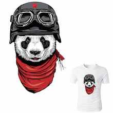 ФОТО china wind panda patch ironing applications for clothing stripes for clothes iron on patches transfert thermocollants t-shirt