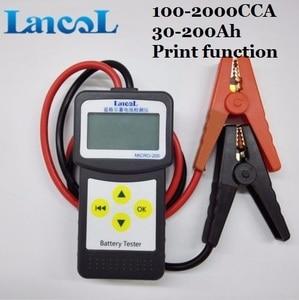 Image 3 - Lancol מקצועי מיקרו 200 אבחון כלי רכב בודק סוללה רכב Analyzer 12v cca סוללה מערכת Tester USB להדפסה