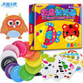 Paper plate DIY toy gift funny draw sticker hand work game cute animal 10pcs/set