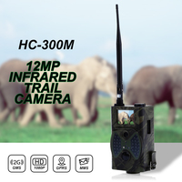 Trail Camera MMS GSM Camera HC300M 2G GSM GPRS SMS Security Hidden Camera Wireless 940NM Black Invisible Vision Hunting Camera