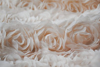 Hot Sale Nude Pink 3D Rosette Fabric Chiffon Fabric For Costume Design Photograph Background