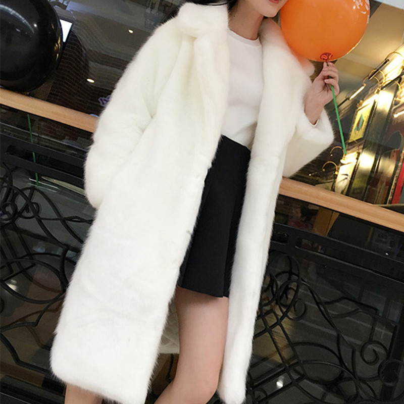 Manteaux Pelt Épais White Pleine Fourrure 296 grey V black Style Cou De Faux Hiver Et Date Xhsd Chaud Vison Automne red Mince Survêtement 7wzx6OnHPq