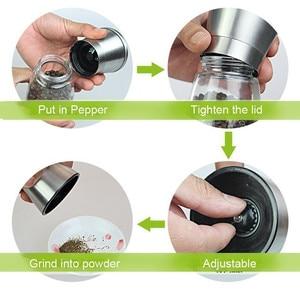 Image 5 - 주방 소금과 후추 그라인더 6 온스 스테인레스 스틸 밀 셰이커 사용하기 쉬운 바베큐 요리기구
