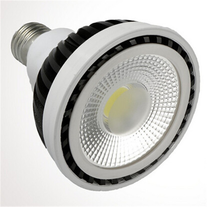 Frete Grátis PAR30 15 w E27 Dimmable Cob levou lâmpada LED Spot luz Da Lâmpada Quente Branco Frio Branco Natural 12 pçs/lote
