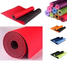 foam mat Double color Yoga Mat Anti Slip Sports Fitness Exercise Pilates Gym For Beginners Environmental Fitness Gymnastics Mats