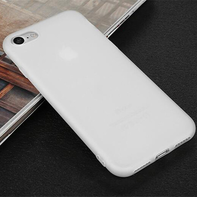 iPhone matte plain silicone TPU phone back cover for iphone