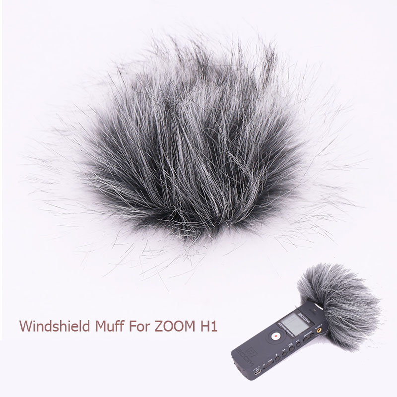 Ulanzi For Zoom H1 Handy Digital Recorder Outdoor Wind Cover Shield Furry Windscreen Windshield Muff