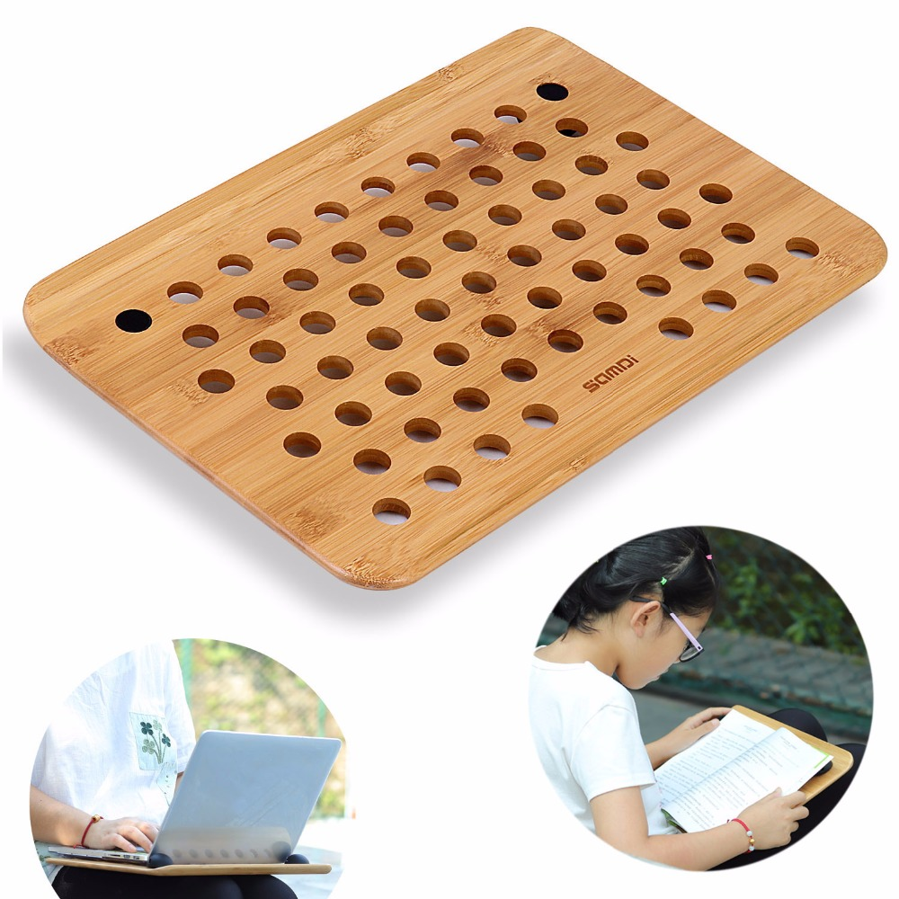 SAMDI Vogue Wooden Laptop Cooling Pad Stand Wood Cooler Holder Universal for MacBook Air Pro Retina Tray Pad For Writing