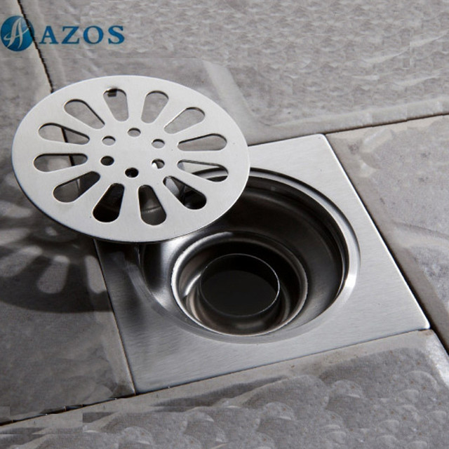 304 Stainless Steel Nickel Brushed Toilet Floor Drain