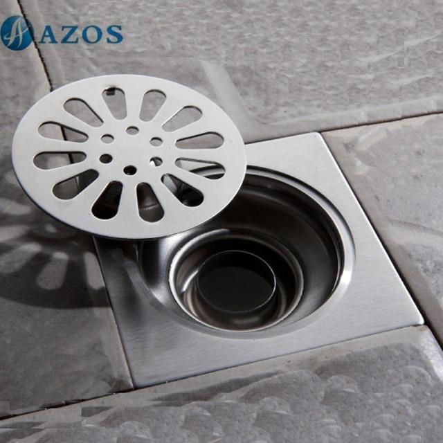 Exceptional 304 Stainless Steel Nickel Brushed Toilet Floor Drain Strainer Grates Waste  Bathroom Shower Ground Overflow Fitting