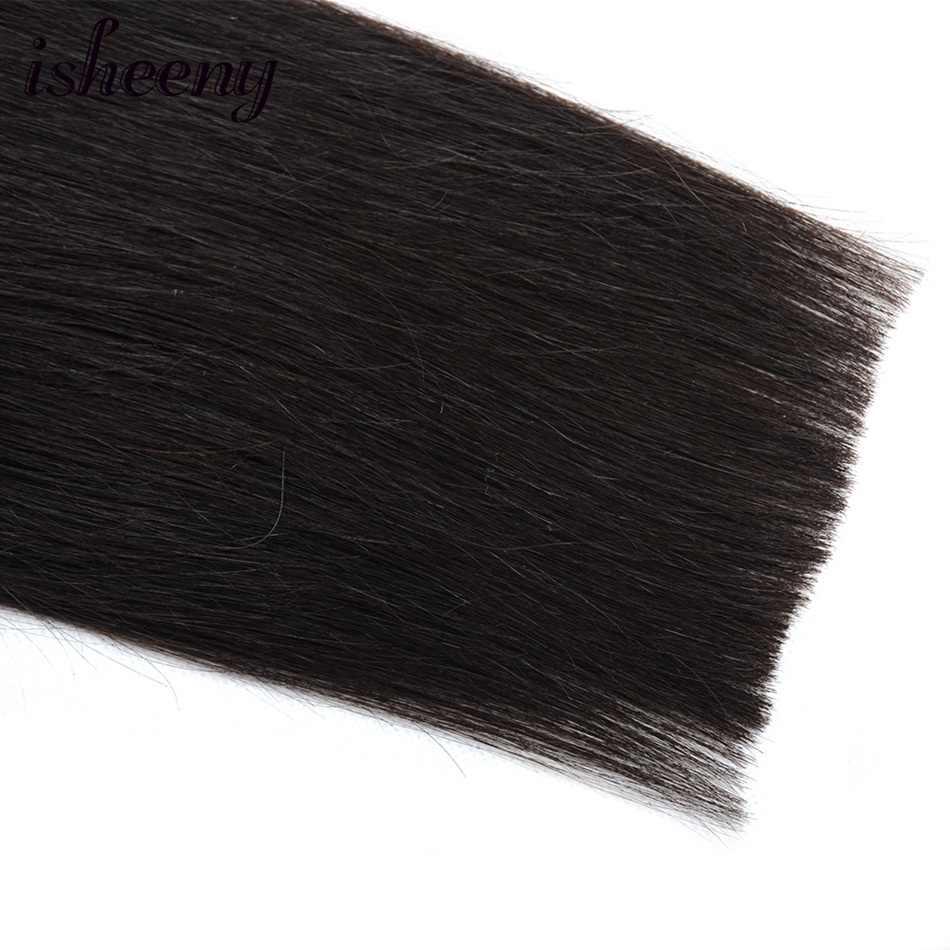 """Pieza de pelo humano Cola de Caballo 14 """"18"""" 22 """"recto Natural negro Clip en peinados humanos 60g Remy pelo mágico envolver alrededor de la cola de Pony"""