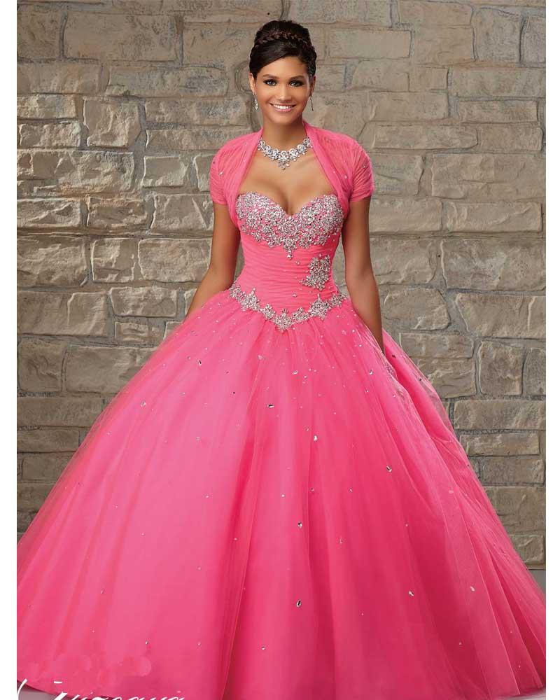 Vestido de 15 años de Debutante Hot Pink Quinceanera vestidos 2014 ...