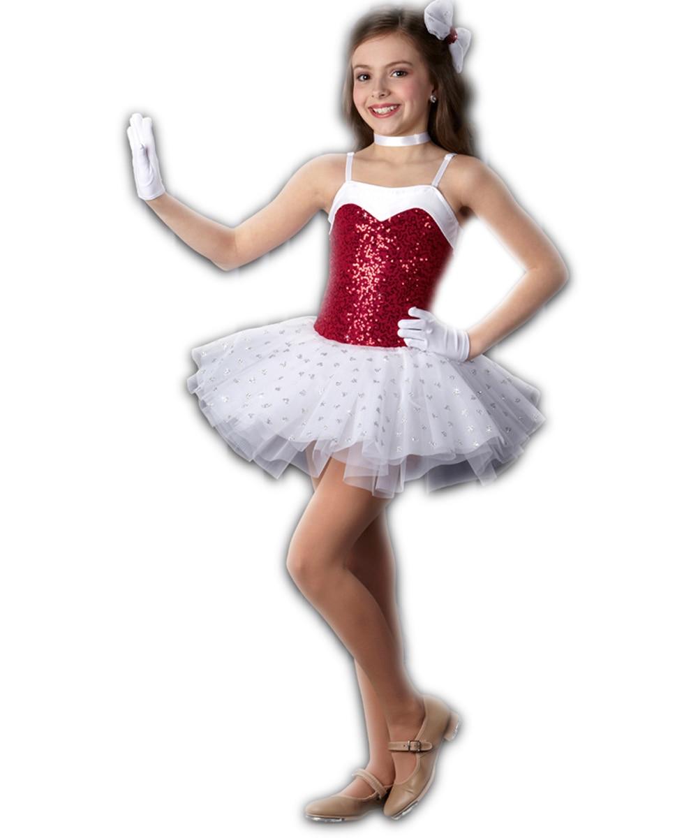 ᑐProfesional Ballet vestido niña niños vestido rojo libre femenino ...