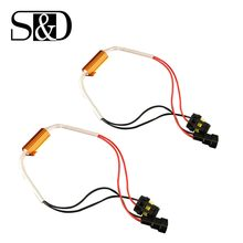 2 Stuks Auto Weerstand Canbus Kabel 50W H4 H7 H8 H11 9005 HB3 9006 HB4 Led Lamp Decoder Geen flickering Fout Canceller Fix Blink Auto