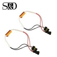 2pcs Car Resistor Canbus Cable 50W H4 H7 H8 H11 9005 HB3 9006 HB4 LED Bulb Decoder No