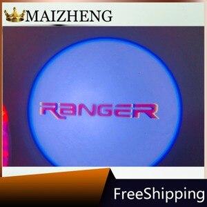 Image 5 - Espejo retrovisor para coche, proyector láser con Logo, luz de sombra, lámpara de bienvenida para FORD F 150 EDGE Explorer, Mondeo, Taurus, Everest Ranger