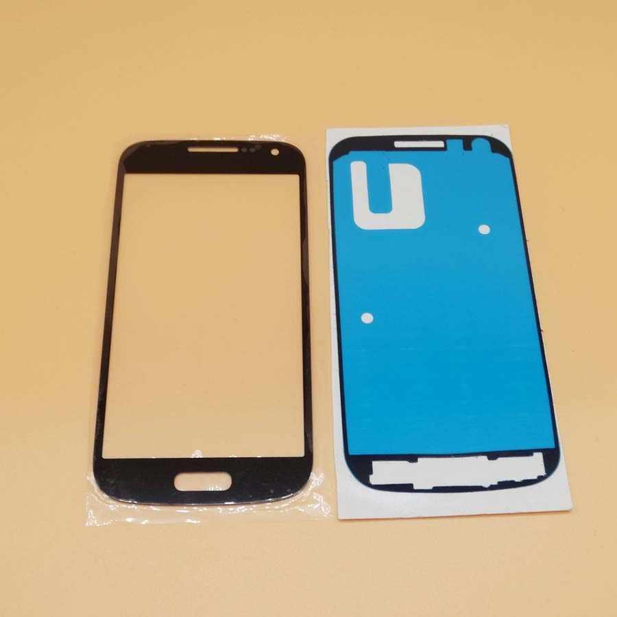 GT-I9190 استبدال LCD زجاج الشاشة الأمامية عدسة لسامسونج غالاكسي S4 MINI i9190 i9192 i9195 الزجاج الخارجي لاصق
