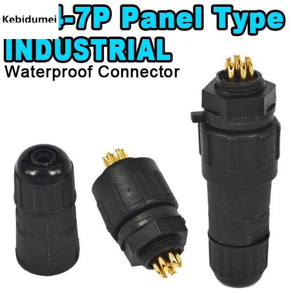 Computer & Office Kebidu M14 7 Pin 7 Pole Industrial Ip68 Waterproof Connector Cable 7pin Panel Mount Wire Connector Adapter Plug For Led Lamp