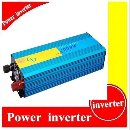 цена на 2000w Pure Sine Wave Inverter, Solar Power Invertor, DC 24v to AC 230v Power Inverter Pure Sinus Inverter 2000w