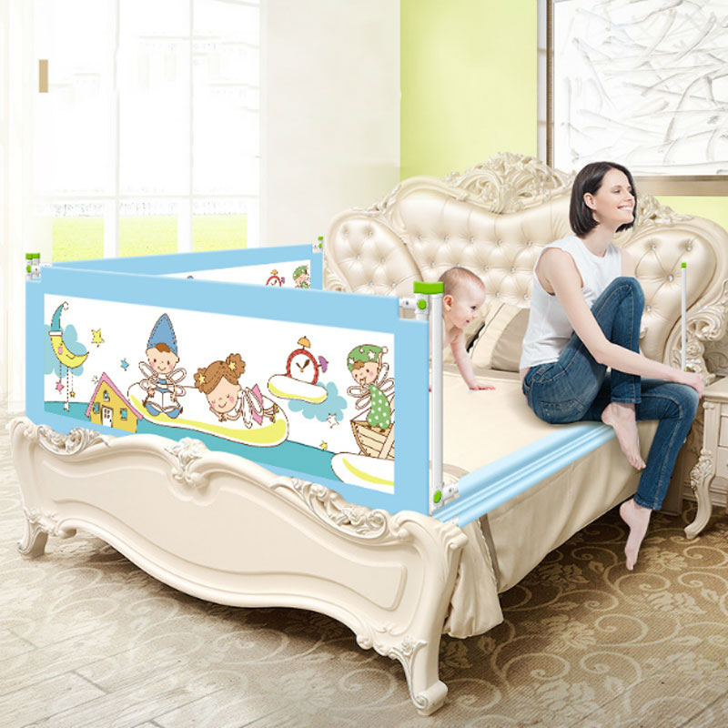 Baby Bed Rail Baby Bed Safety Guardrail With Pocket Baby Playpen Kids Safety General Use Baby Bed Fence Guardrail Crib Rails baby crib fence bed fence fence baby bed 2 m double bed 1 8 general bedrail baffle
