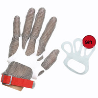 1pc Safety Gloves High quality 304L Stainless Steel Mesh Glove Knife Cut Resistant Protective Glove for Kitchen Butcher Working