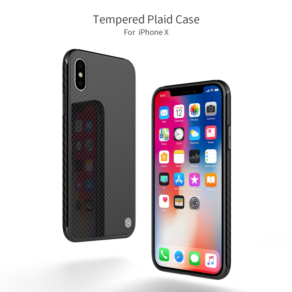 NILLKIN Glass Case for iPhone X case for iPhone 10 Luxury