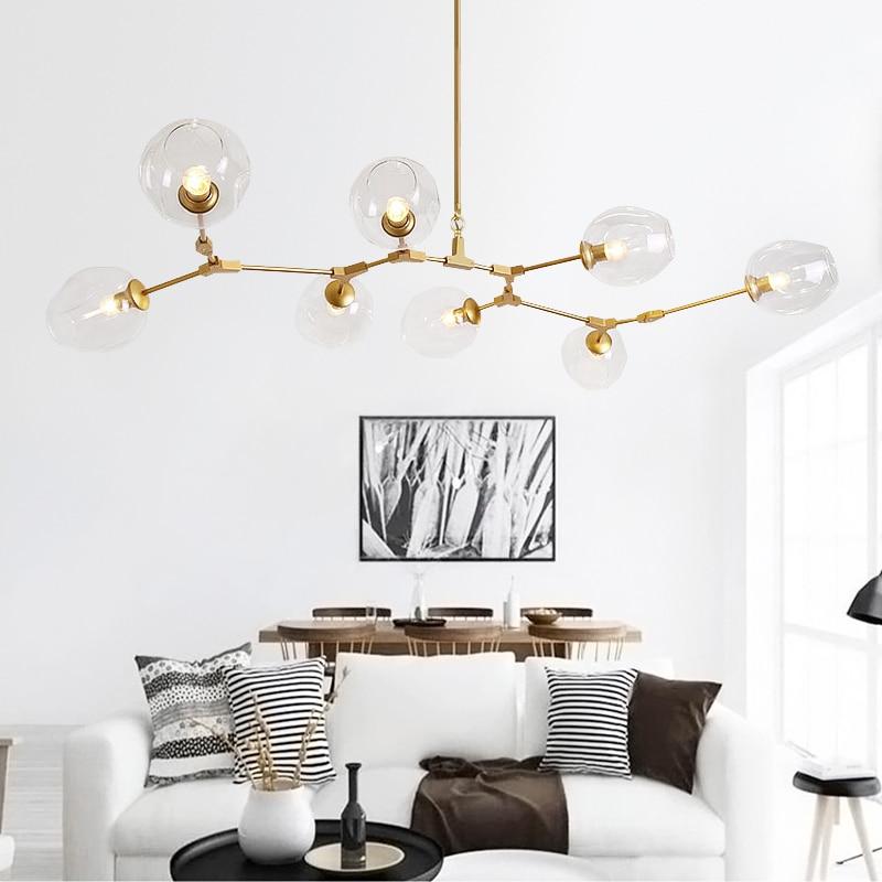 Luci ristorante Nordic vento industriale retro creativo contratta e contemporanea sitting room luce camera fagiolo magico villa vetro