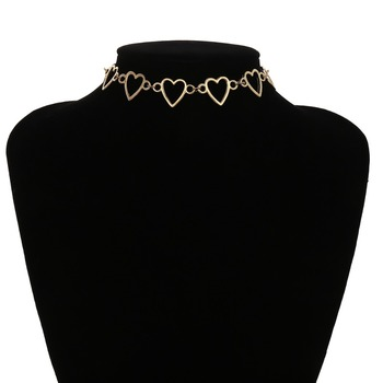 Ingemark Korean Sweet Love Heart Choker Necklace Statement Girlfriend Gift Cute Silver Color Necklace Jewelry Collier Femme 2018 5