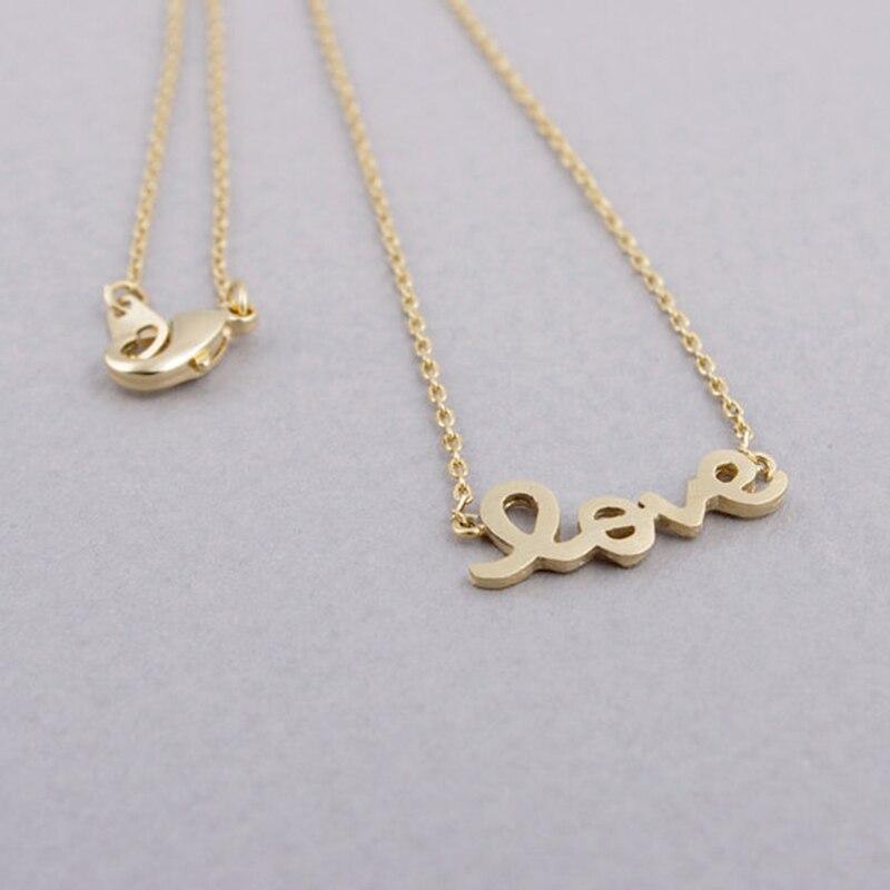 8c56ba3e5de2c الشارع أزياء رسالة حب سحر المعلقات النساء الرجال زوجين قلادة الفضة وردة  ذهبية الذهب-اللون شحن مجاني بالجملة