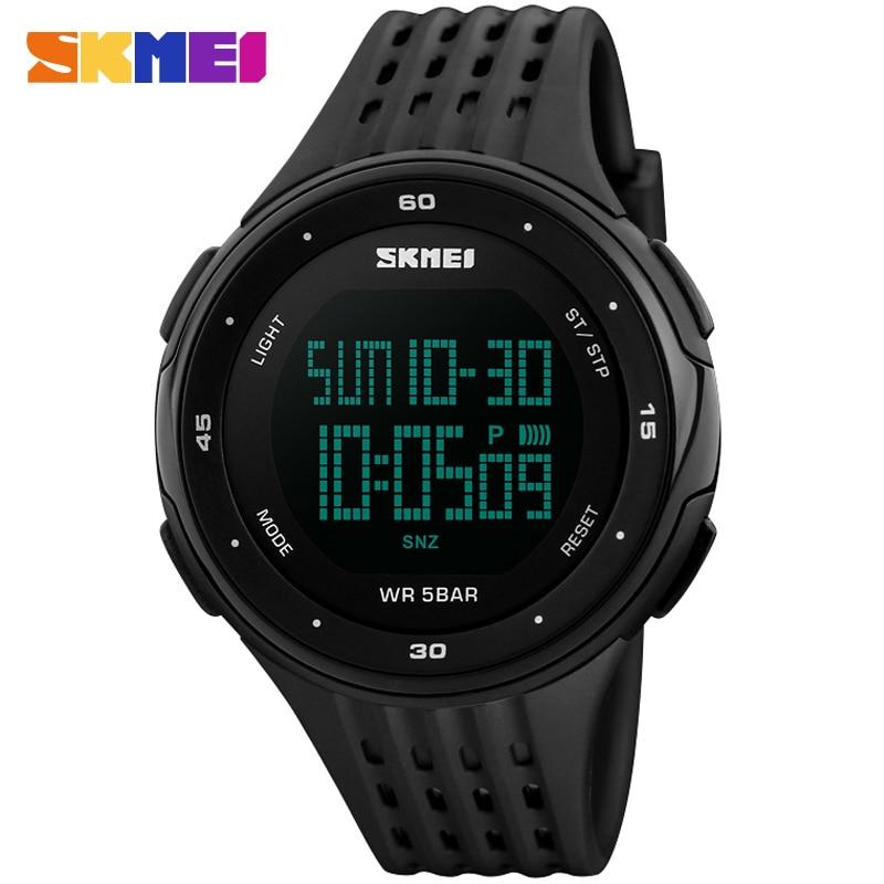 men sport watch SKMEI brand digital watches rubber strap 50M waterproof watches man fashion chronograph alarm