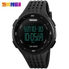 Correa de caucho reloj de los hombres de la marca SKMEI relojes digitales 50 M impermeable relojes de moda hombre cronógrafo alarma LED relojes de pulsera