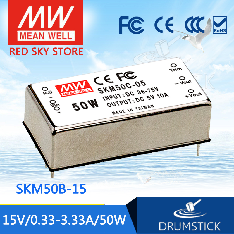 MEAN WELL SKM50B-15 15V 3.33A meanwell SKM50 15V 50W DC-DC Regulated Single Output Converter [powernex] mean well original skm50b 15 15v 3 33a meanwell skm50 15v 50w dc dc regulated single output converter