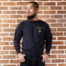 Neue ankunft langhülse mans USMC vintage dünne 550gsm super heavy pullover hoodie